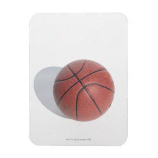 Baloncesto en el fondo blanco imanes