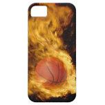 Baloncesto en el fuego (compuesto digital) iPhone 5 funda