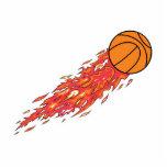 baloncesto en el fuego esculturas fotograficas