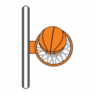 baloncesto en el gráfico neto de la visión superio escultura fotografica