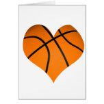 Baloncesto en forma de corazón felicitaciones