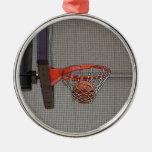 Baloncesto en la red adornos de navidad