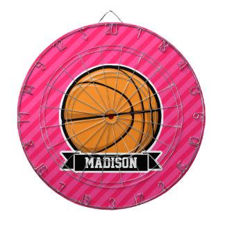 Baloncesto en las rayas rosadas, rayadas