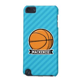 Baloncesto en rayas azules de cielo funda para iPod touch 5G