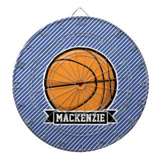 Baloncesto en rayas azules y blancas