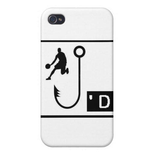 Baloncesto enganchado iPhone 4 carcasas