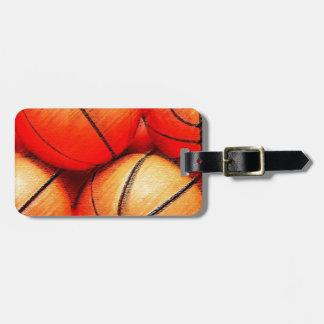 Baloncesto Etiquetas Para Maletas