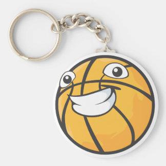 Baloncesto feliz llavero redondo tipo pin