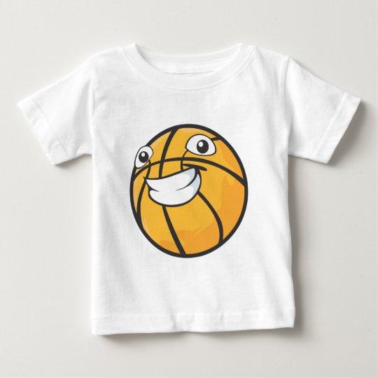 Baloncesto feliz playera de bebé