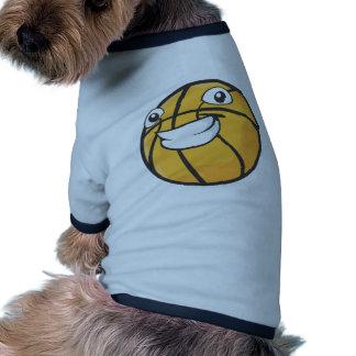 Baloncesto feliz camiseta de mascota