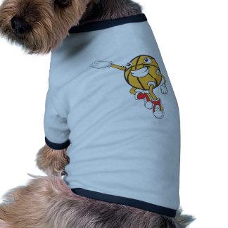 Baloncesto feliz camiseta de perrito