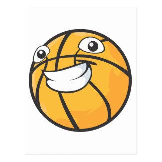 Baloncesto feliz postal
