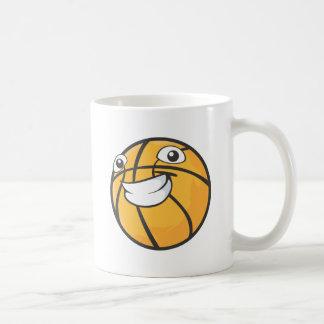 Baloncesto feliz taza de café
