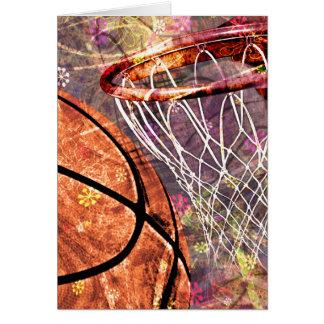 Baloncesto femenino sucio tarjeta de felicitación