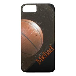 Baloncesto fresco del Grunge personalizado Funda iPhone 7