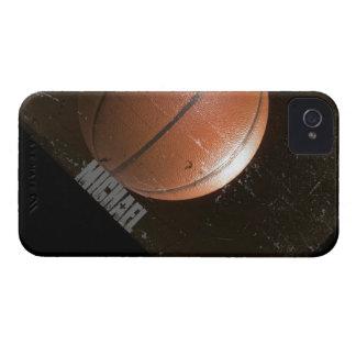 Baloncesto fresco del Grunge personalizado Funda Para iPhone 4 De Case-Mate
