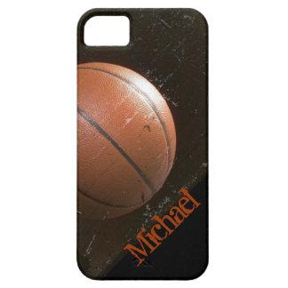 Baloncesto fresco del Grunge personalizado Funda Para iPhone SE/5/5s