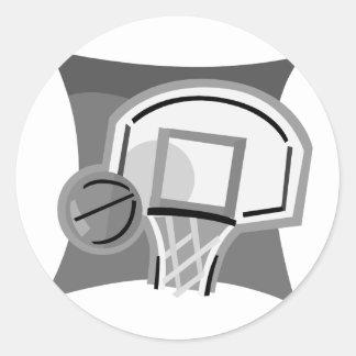 Baloncesto gris pegatinas redondas
