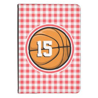 Baloncesto; Guinga roja y blanca Funda Para Kindle Touch