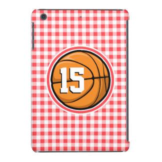 Baloncesto; Guinga roja y blanca Fundas De iPad Mini Retina