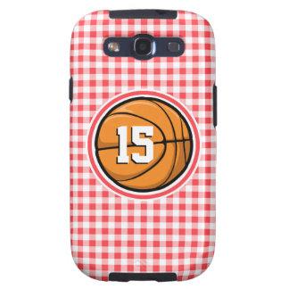 Baloncesto; Guinga roja y blanca Samsung Galaxy SIII Funda
