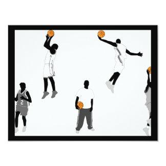 """baloncesto-hombres invitación 4.25"""" x 5.5"""""""
