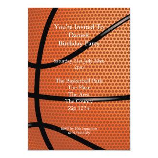 Baloncesto Invitación 12,7 X 17,8 Cm
