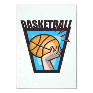 "Baloncesto Invitación 5"" X 7"""