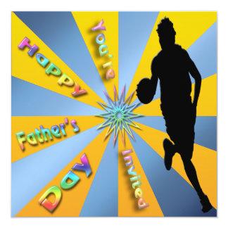 Baloncesto - invitación feliz del día de padre