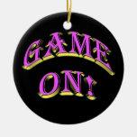 ¡Baloncesto - juego encendido! Ornamento Ornamento De Navidad