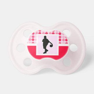 Baloncesto lindo chupetes de bebé