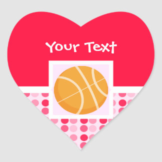 Baloncesto lindo calcomania de corazon personalizadas
