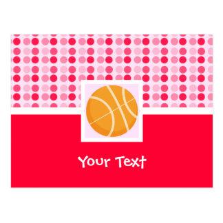 Baloncesto lindo tarjeta postal