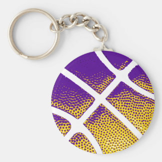 Baloncesto Llavero Redondo Tipo Pin