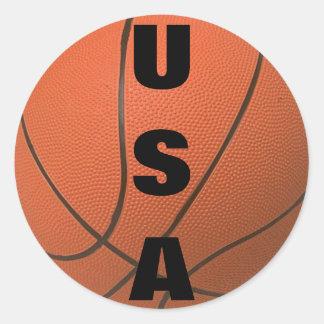 Baloncesto (los E.E.U.U.) Pegatina Redonda