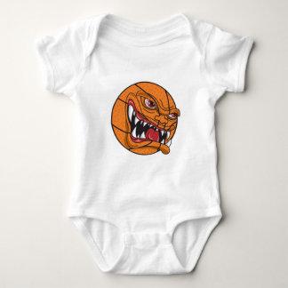 baloncesto malo enojado body para bebé