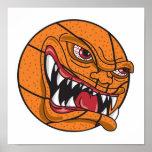 baloncesto malo enojado poster