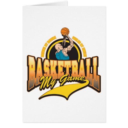 Baloncesto mi juego tarjeta de felicitación
