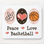 Baloncesto Mousepad del amor de la paz Alfombrillas De Raton