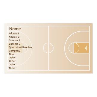 Baloncesto - negocio tarjetas de visita