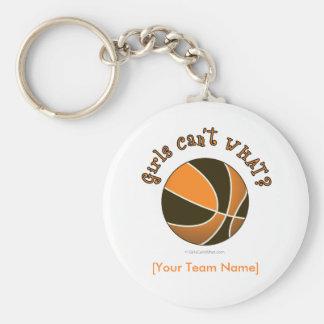 Baloncesto - negro naranja llaveros
