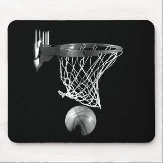 Baloncesto negro y blanco alfombrilla de raton