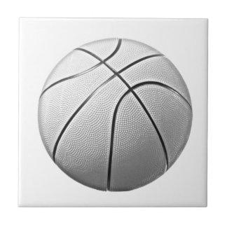 Baloncesto negro y blanco azulejo cuadrado pequeño