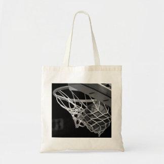 Baloncesto negro y blanco bolsa tela barata