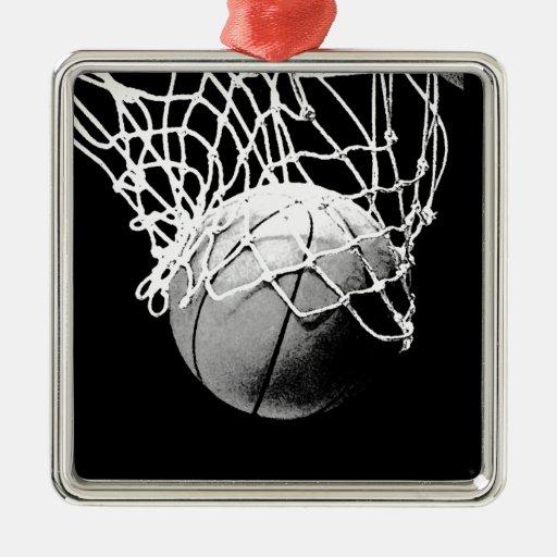 Baloncesto negro y blanco ornamento para reyes magos