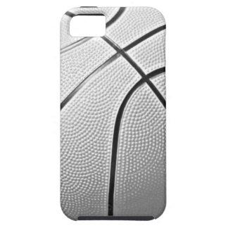 Baloncesto negro y blanco iPhone 5 coberturas