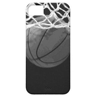 Baloncesto negro y blanco iPhone 5 protectores
