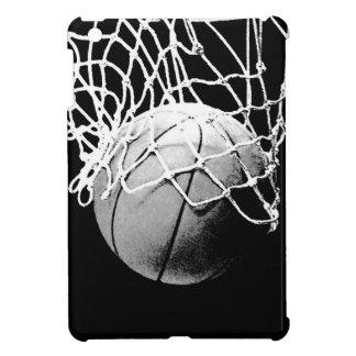 Baloncesto negro y blanco iPad mini funda