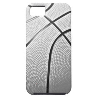 Baloncesto negro y blanco funda para iPhone SE/5/5s