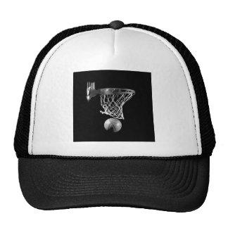 Baloncesto negro y blanco gorras